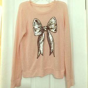 Lauren Conrad Lightweight Bow Sweater Size Large